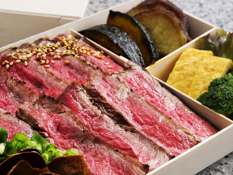 お肉180gの牛肉ステーキ弁当 【1日限定10個・テイクアウト】