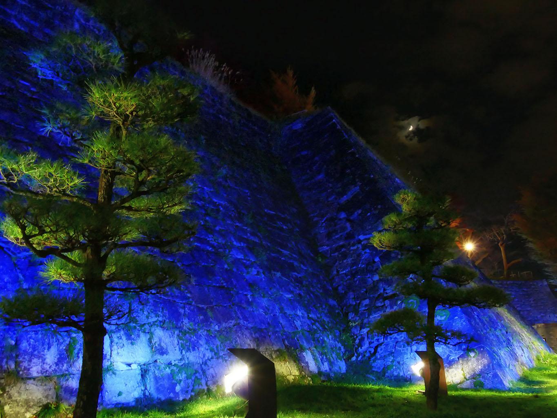 盛岡城 石垣ライトアップ | 岩手・盛岡の観光(Morioka・Iwate)